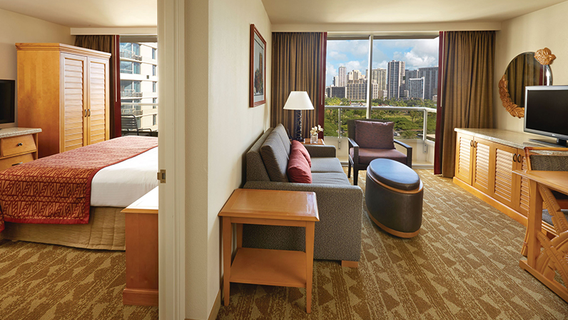 oahu one  two bedroom suites  embassy suites waikiki beach walk, Bedroom designs